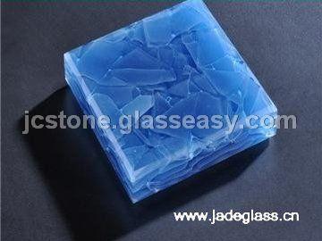 装饰玻璃、艺术玻璃 - 玉石玻璃-宝石蓝