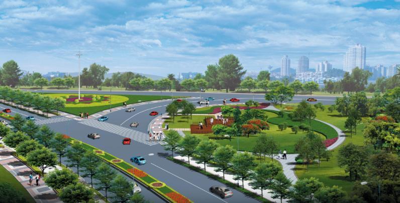 海滨大道连接段至S226埒子口大桥段绿化工程施工